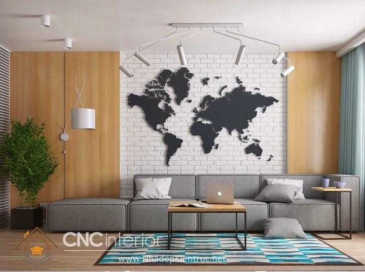 Thiết kế nội thất phòng khách nhỏ hiện đại 03