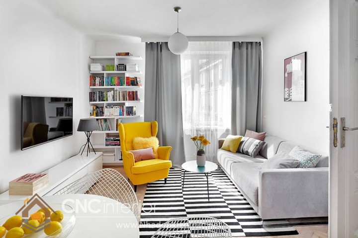 Thiết kế nội thất phòng khách nhỏ hiện đại 05