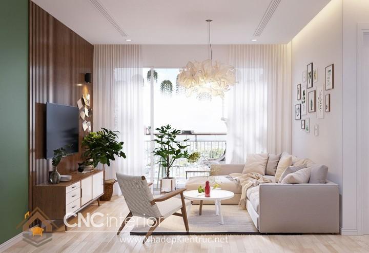 Thiết kế nội thất phòng khách nhỏ hiện đại 06