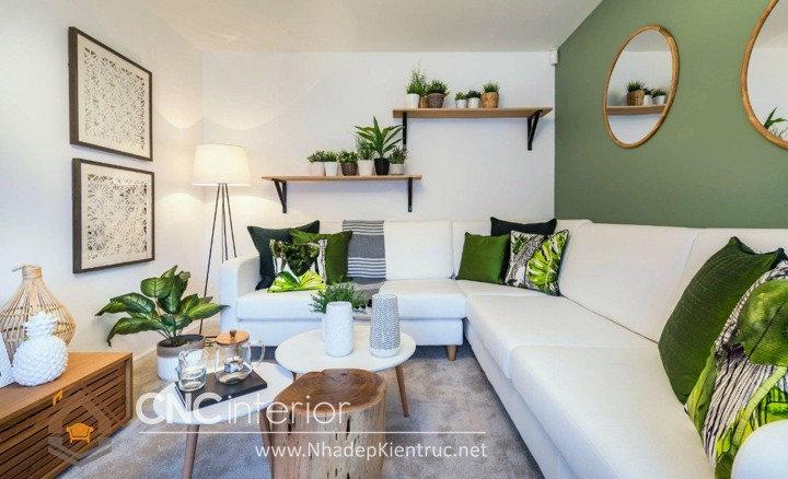 Thiết kế nội thất phòng khách nhỏ hiện đại 07