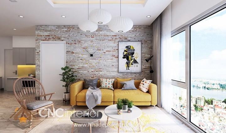 Thiết kế nội thất phòng khách nhỏ hiện đại 09