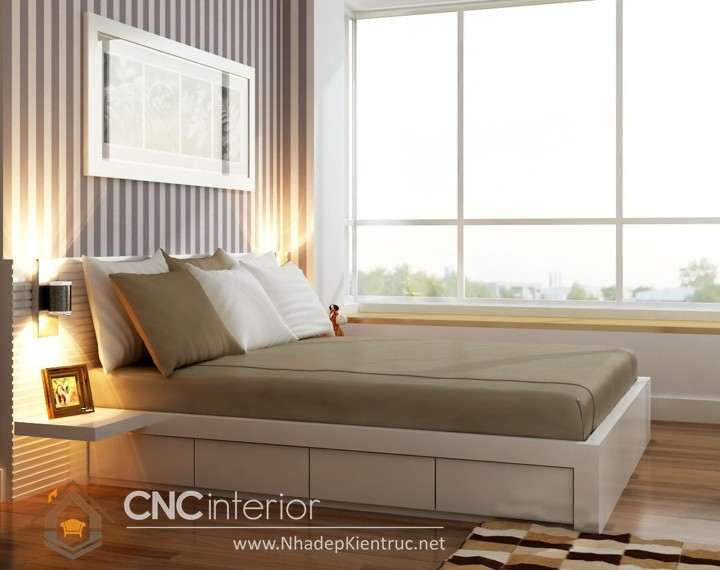 Thiết kế nội thất phòng ngủ 15m2 (1)