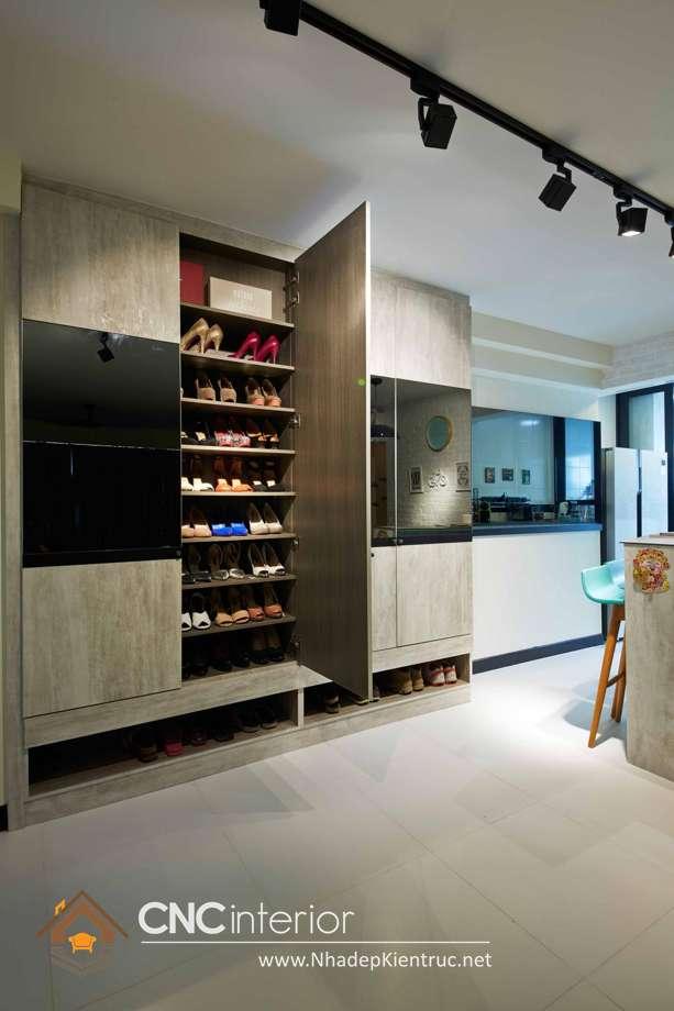 mẫu tủ để giày dép đẹp 12