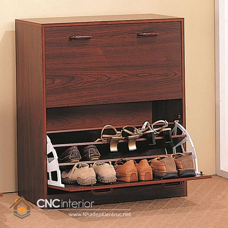 mẫu tủ để giày dép đẹp 04