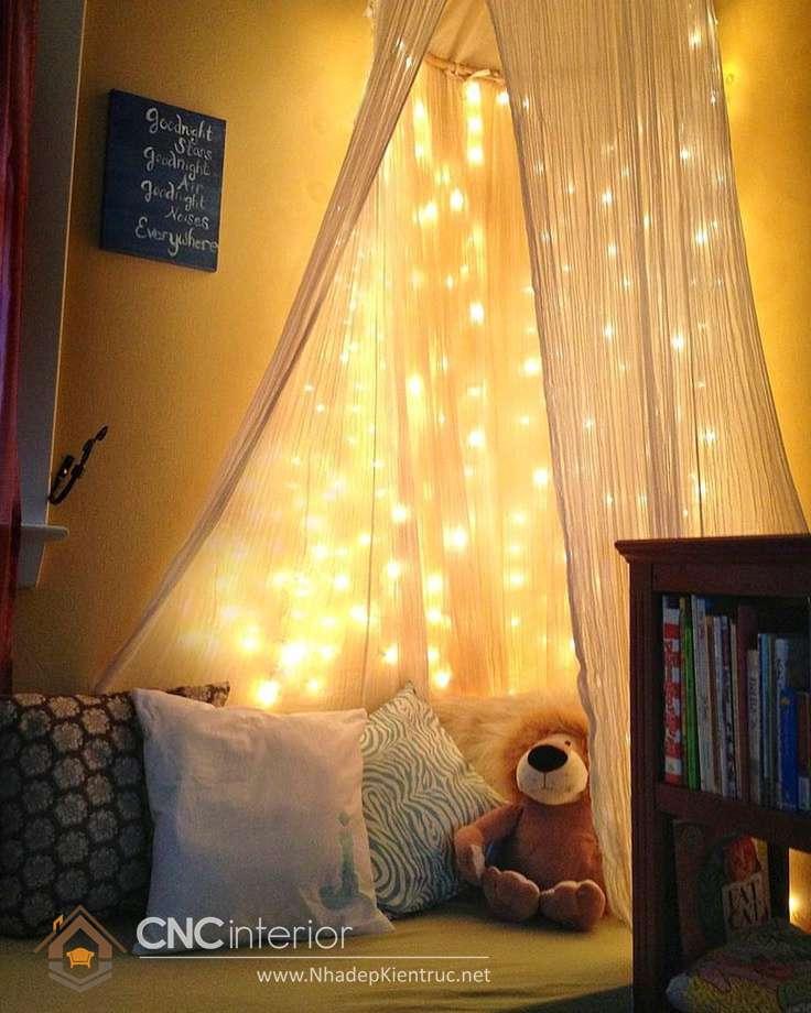 trang trí phòng ngủ với đèn dây 10