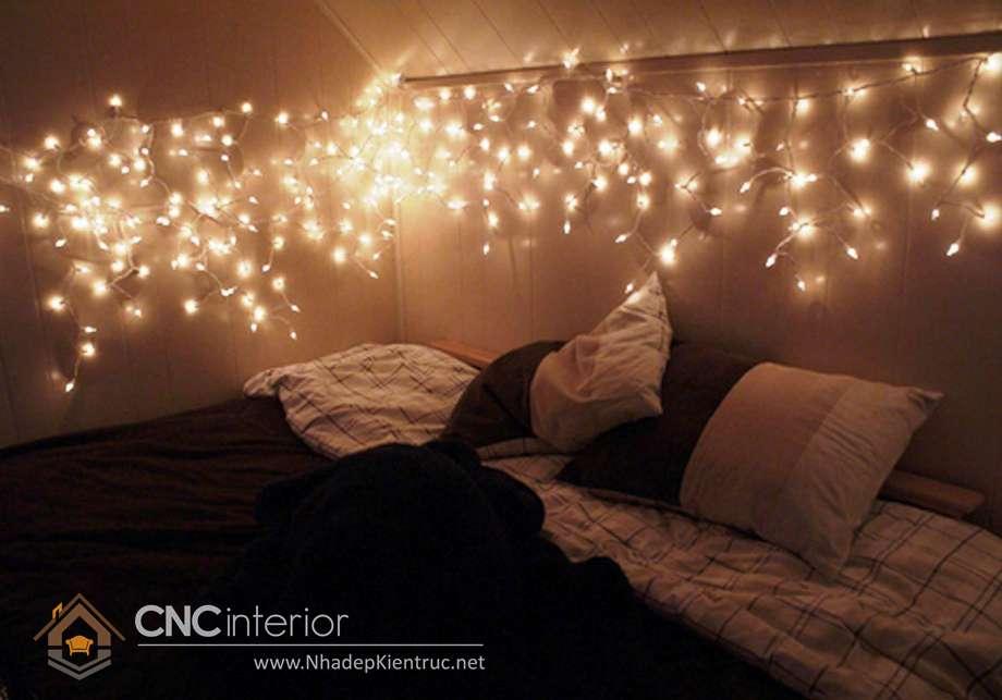 trang trí phòng ngủ với đèn dây 12