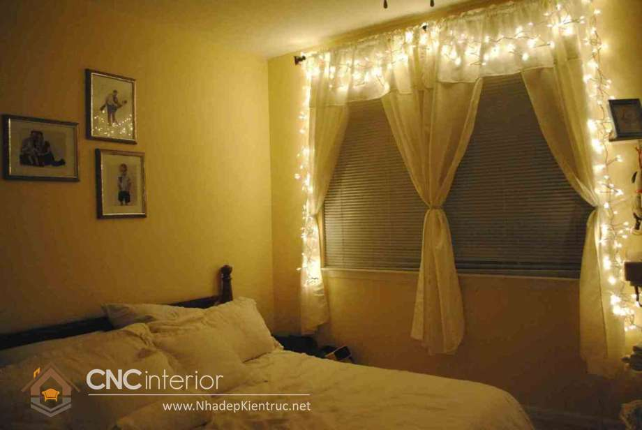 trang trí phòng ngủ với đèn dây 03
