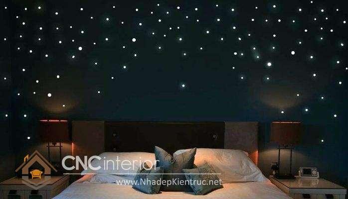 trang trí phòng ngủ với đèn dây 01