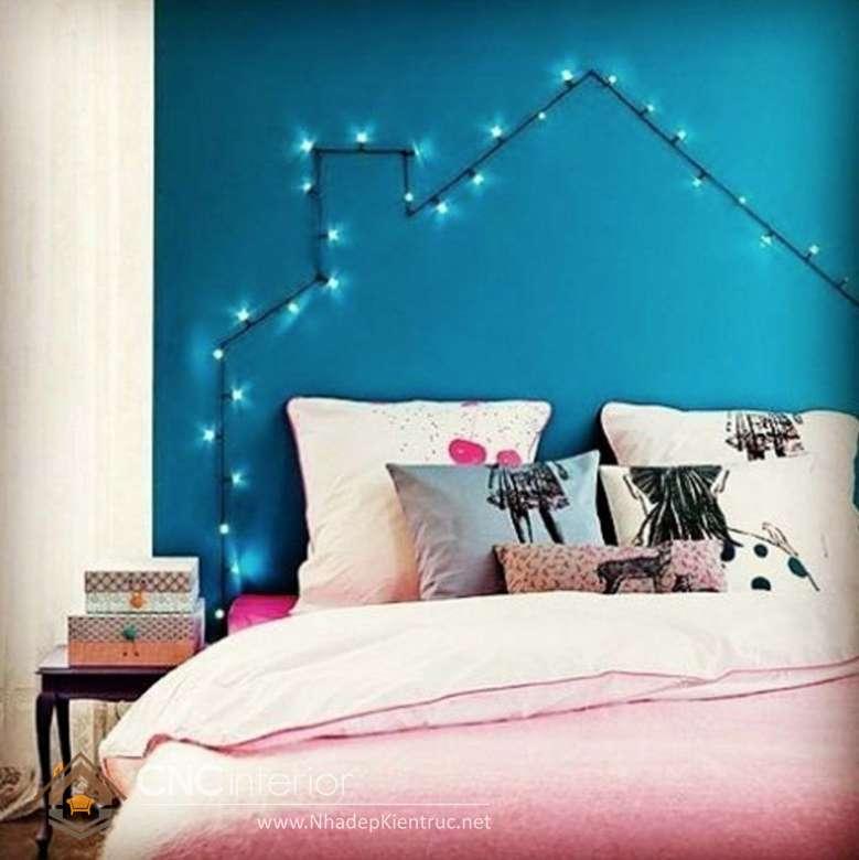 trang trí phòng ngủ với đèn dây 04