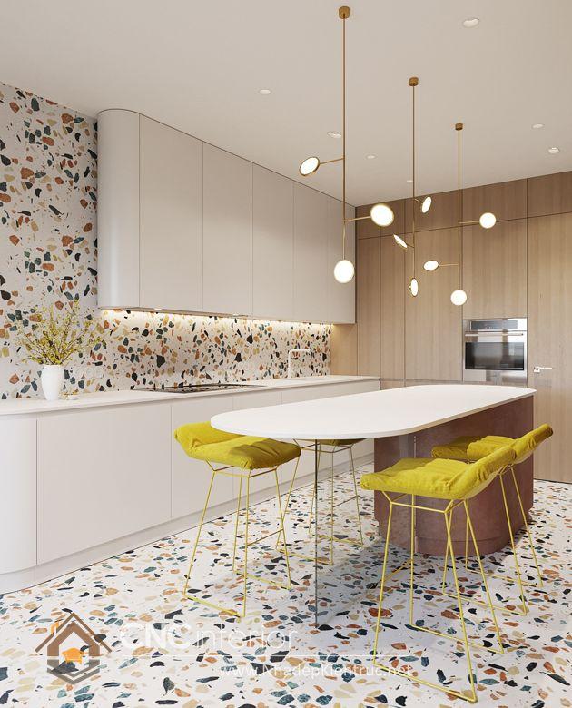 Trang trí phòng bếp đẹp đơn giản 10