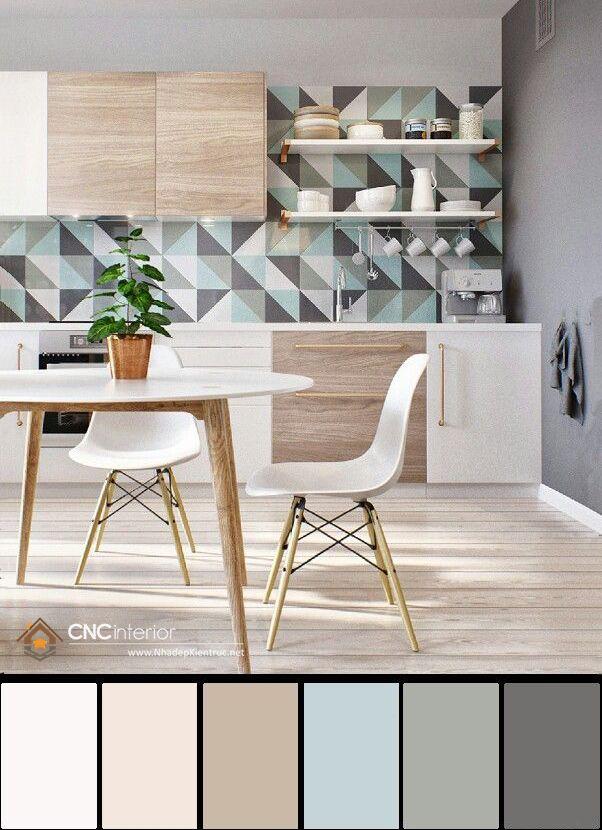 Trang trí phòng bếp đẹp đơn giản 02