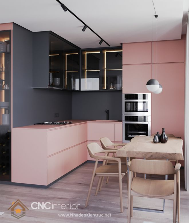 Trang trí phòng bếp đẹp đơn giản 03