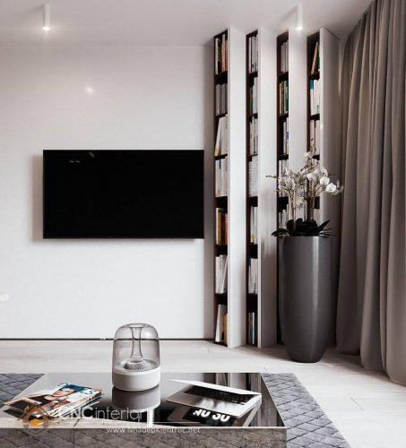 Trang trí tường phòng khách bằng gỗ 18