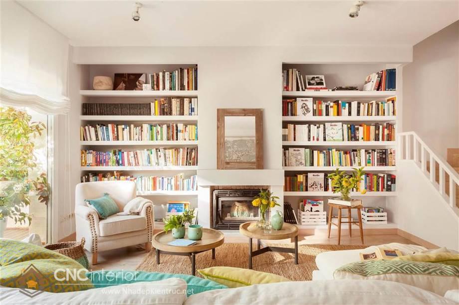 Trang trí tường phòng khách bằng gỗ 22