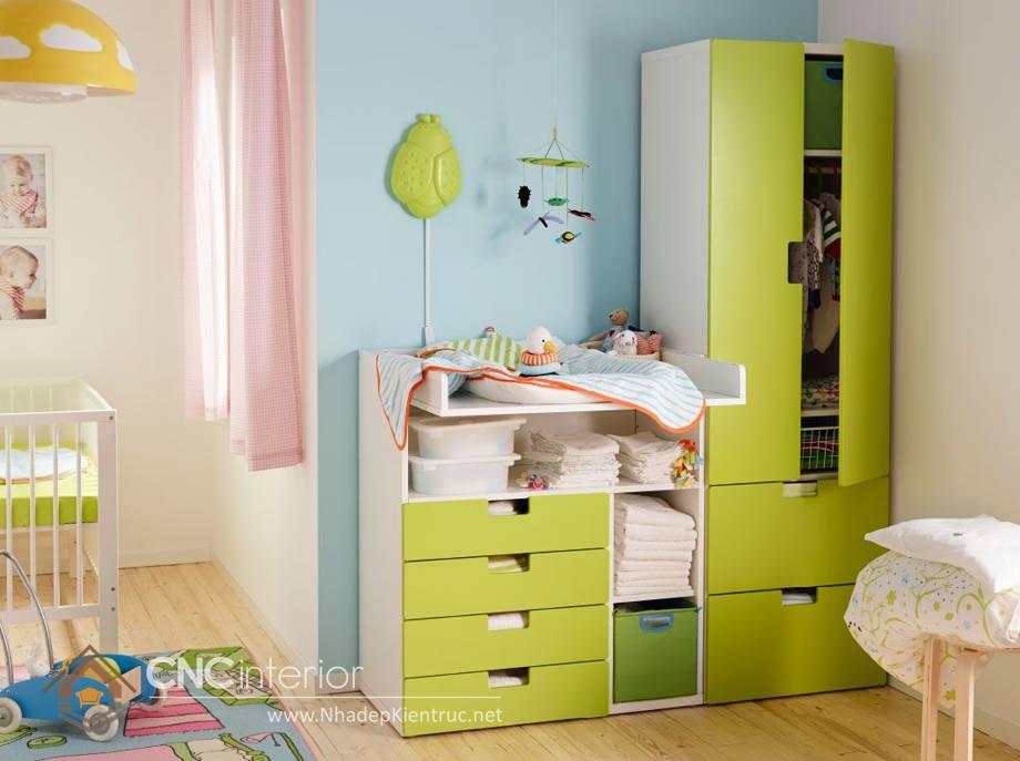 Tủ quần áo trẻ em bằng gỗ mdf 11