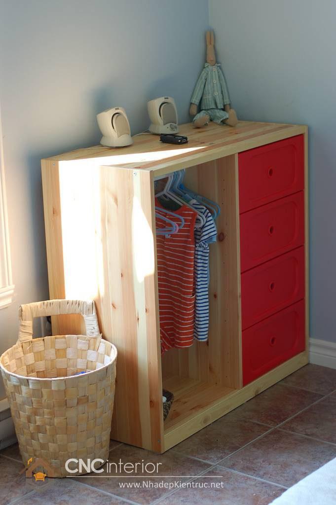 Tủ quần áo trẻ em bằng gỗ mdf 13
