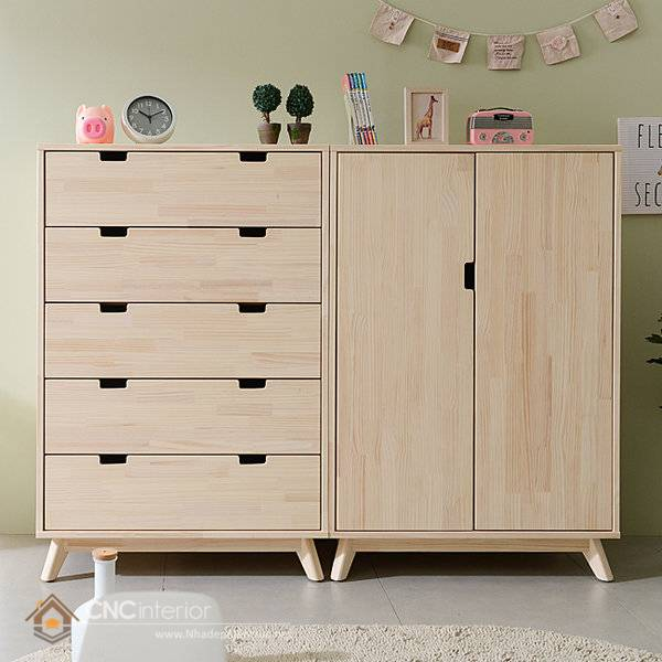 Tủ quần áo trẻ em bằng gỗ mdf 14