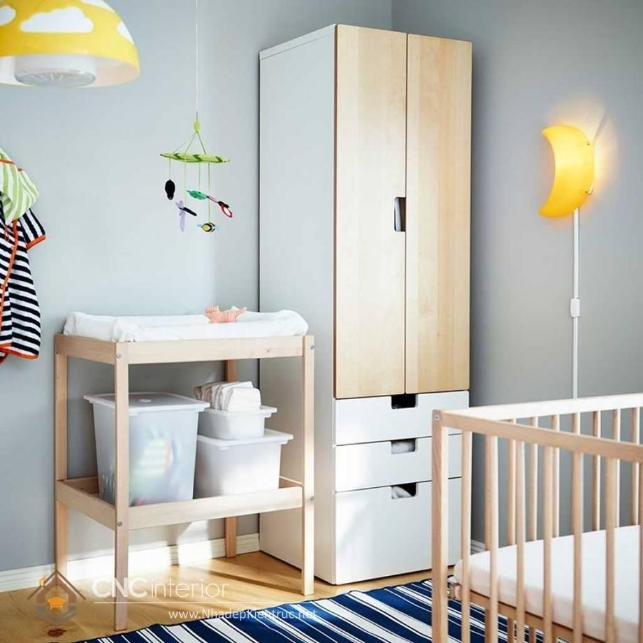 Tủ quần áo trẻ em bằng gỗ mdf 20