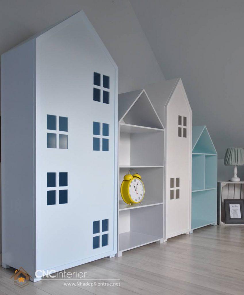 Tủ quần áo trẻ em bằng gỗ mdf 04