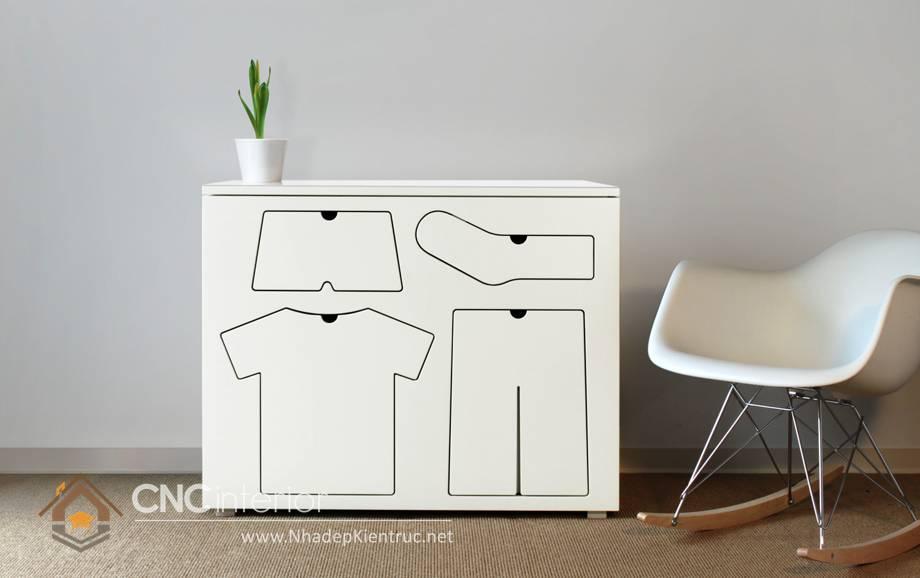 Tủ quần áo trẻ em bằng gỗ mdf 05