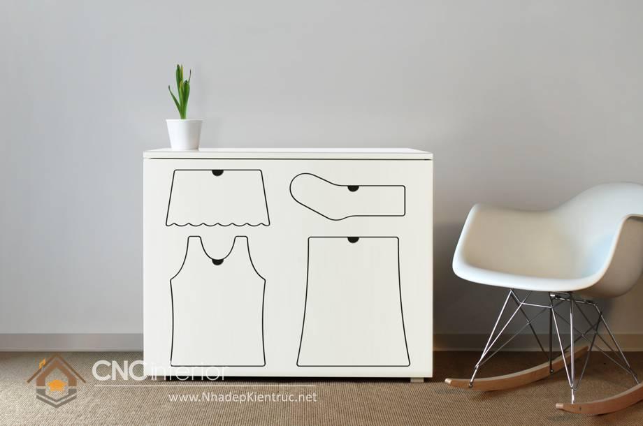 Tủ quần áo trẻ em bằng gỗ mdf 06