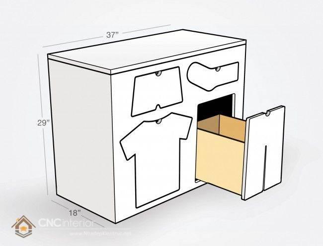 Tủ quần áo trẻ em bằng gỗ mdf 07