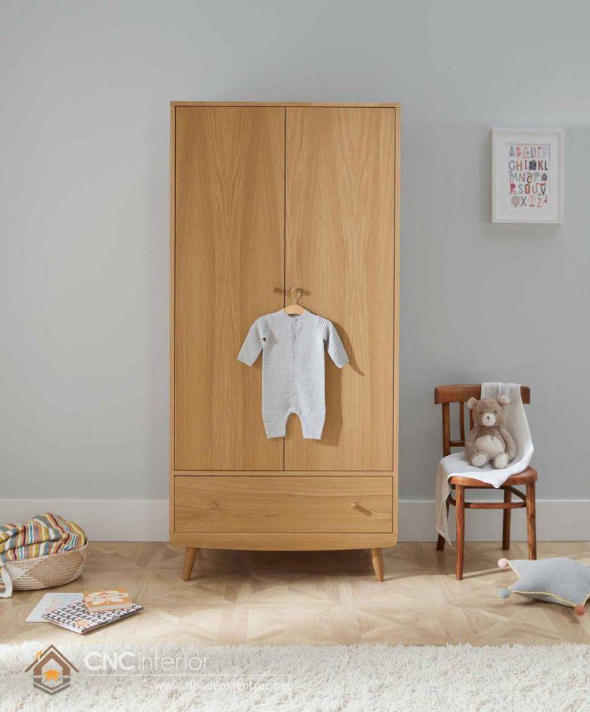 Tủ quần áo trẻ em bằng gỗ mdf 08