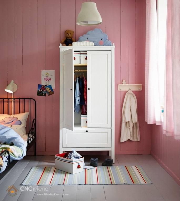 Tủ quần áo trẻ em bằng gỗ mdf 09