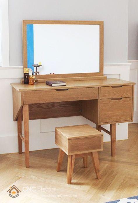 Mẫu bàn phấn trang điểm gỗ đẹp
