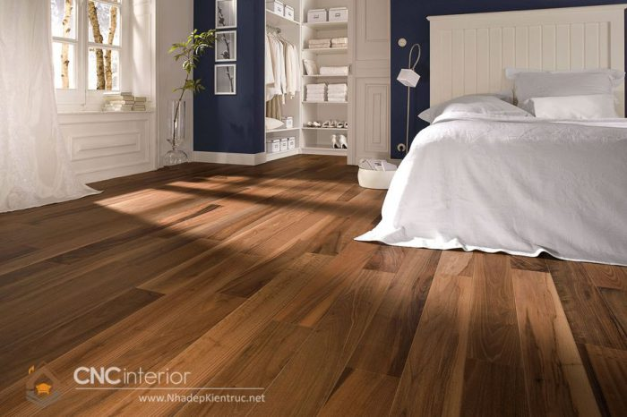 Sàn gỗ cho phòng ngủ 6