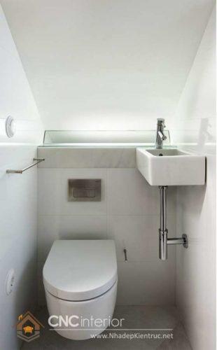 Cầu thang kết hợp nhà vệ sinh 6