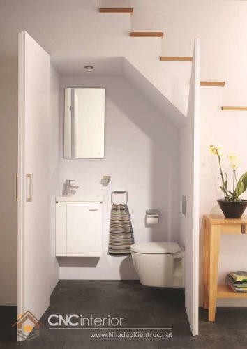 Cầu thang kết hợp nhà vệ sinh 7