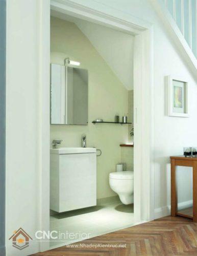 Cầu thang kết hợp nhà vệ sinh 8