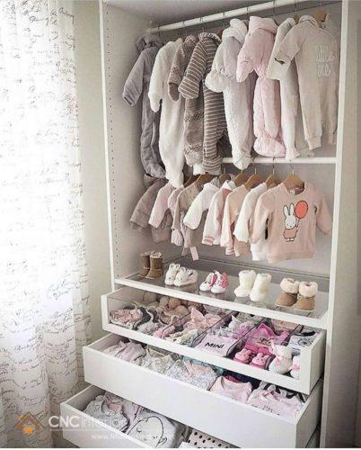 Tủ đựng quần áo trẻ em bằng gỗ 03