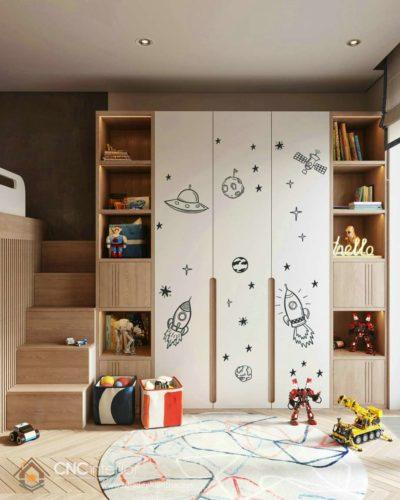 Tủ quần áo bằng gỗ cho bé nam 11