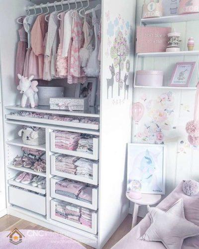 Tủ đựng quần áo trẻ em bằng gỗ 04