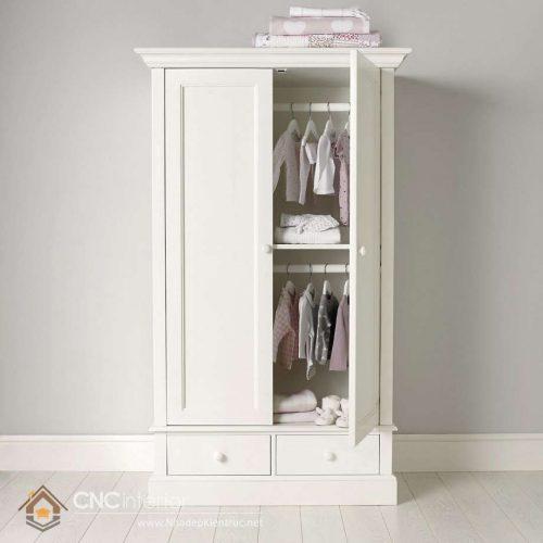 tủ đựng quần áo trẻ em bằng gỗ 05