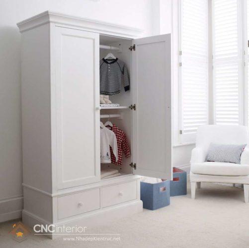 Tủ đựng quần áo trẻ em bằng gỗ 06