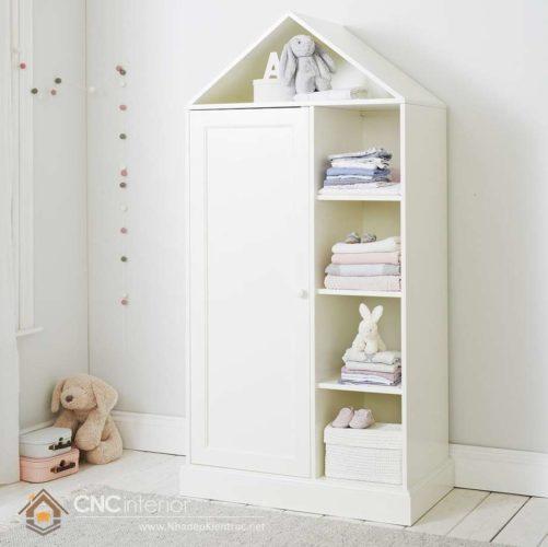 Tủ đựng quần áo trẻ em bằng gỗ 07