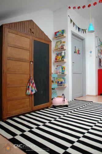 tủ đựng quần áo trẻ em bằng gỗ 08