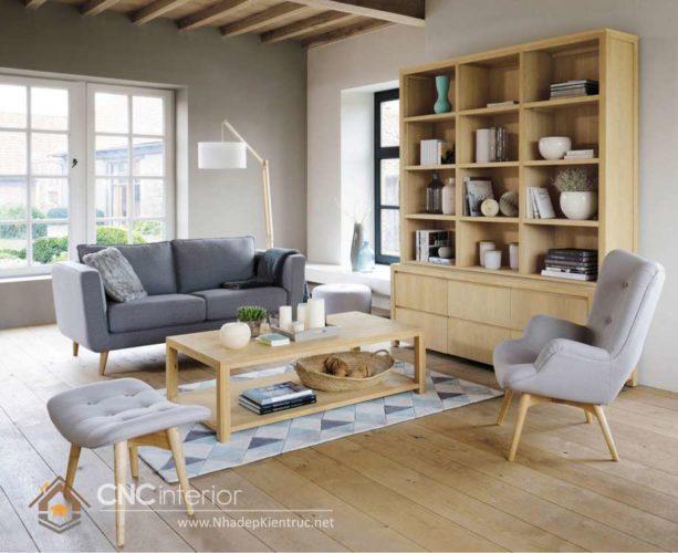 giá các mẫu tủ tường gỗ phòng khách 1