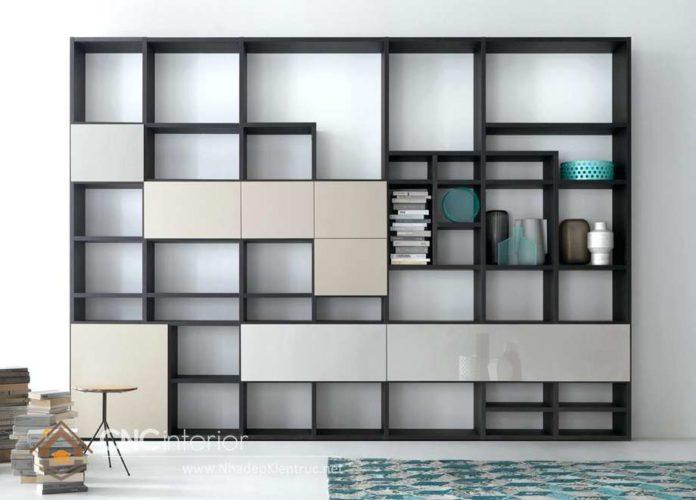 giá các mẫu tủ tường gỗ phòng khách 2