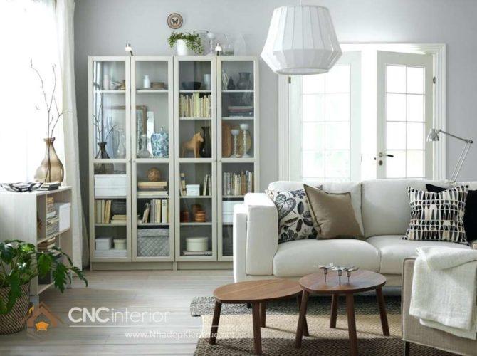 giá các mẫu tủ tường gỗ phòng khách 4