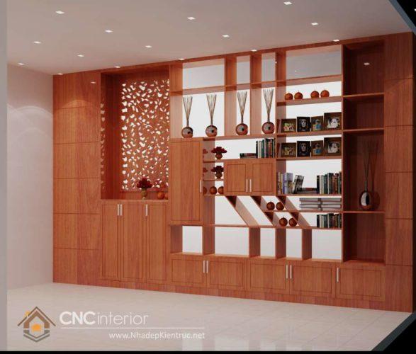 giá các mẫu tủ tường gỗ phòng khách 7