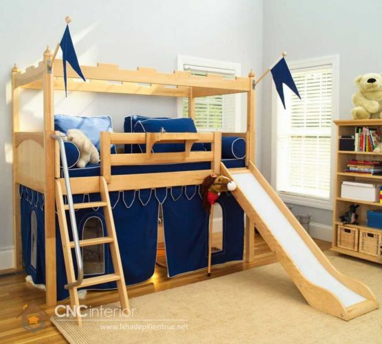 giường tầng có cầu trượt 1