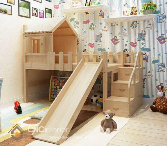 giường tầng có cầu trượt 2