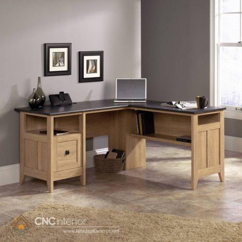 mẫu bàn làm việc bằng gỗ tự nhiên 10