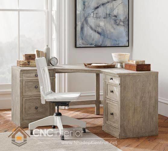 mẫu bàn làm việc bằng gỗ tự nhiên 11
