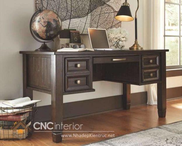 mẫu bàn làm việc bằng gỗ tự nhiên 5