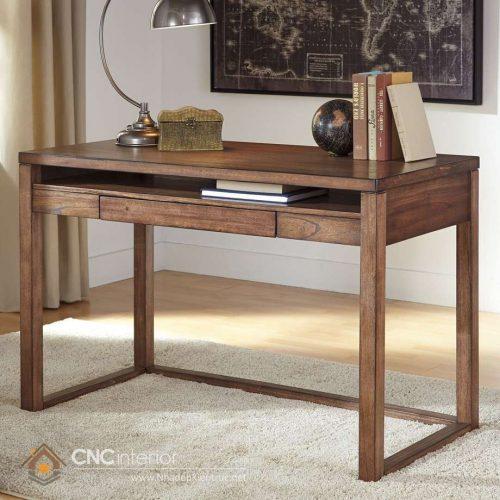 mẫu bàn làm việc bằng gỗ tự nhiên 8